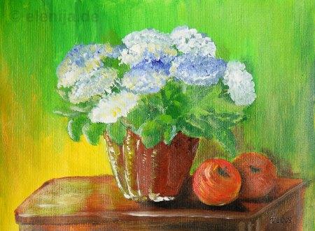 Weiße Kappen der Blumen, von Elenija