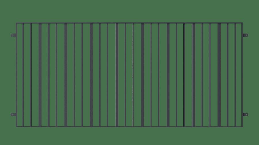 Balkongeländer Modena, pulverbeschichtet