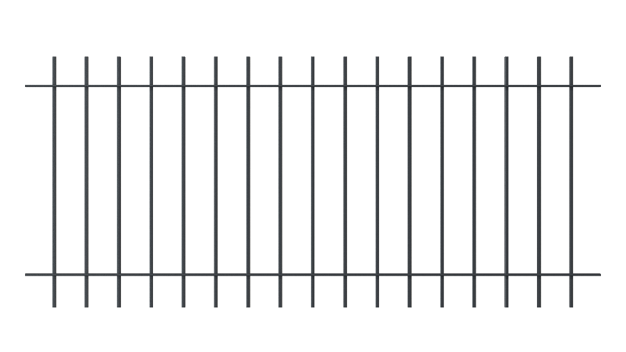 Zaunelemente Padua, gerade Ausführung, pulverbeschichtet