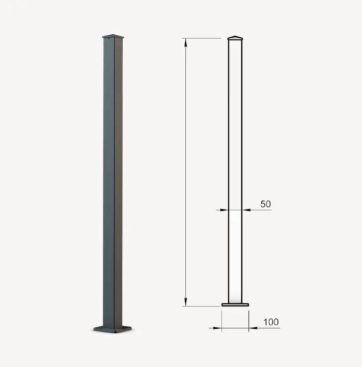 Grafik Pfosten 5x5cm zum Aufschrauben