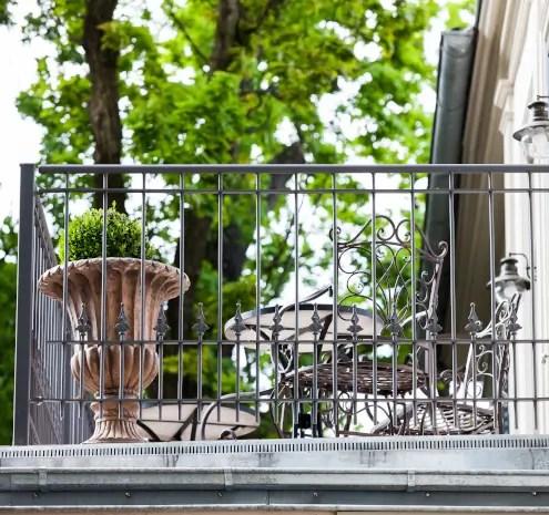 Stahlgeländer Lucca in pulverbeschichteter Ausführung