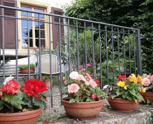Balkongeländer Padua aus Metall in pulverbeschichteter Ausführung