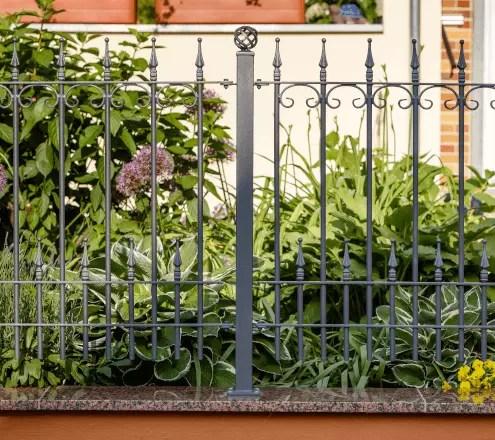 Gartenzaun Lucca aus Metall in pulverbeschichteter Ausführung in anthrazit