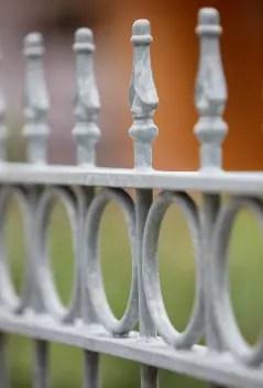 Gartenzaun Belluno in feuerverzinkter Ausführung