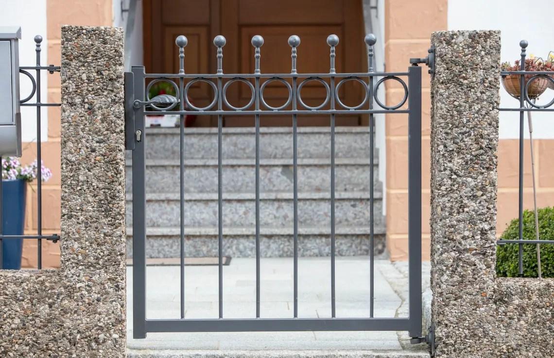 Gartentor Belluno - pulverbeschichtet - Kugelstab