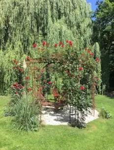 Rosenpavillon Florenz in Edelrost