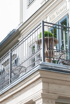 Balkongeländer Lucca pulverbeschichtet in anthrazit-schwarz