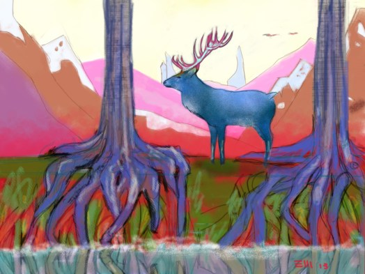 Deer in the forest_130113
