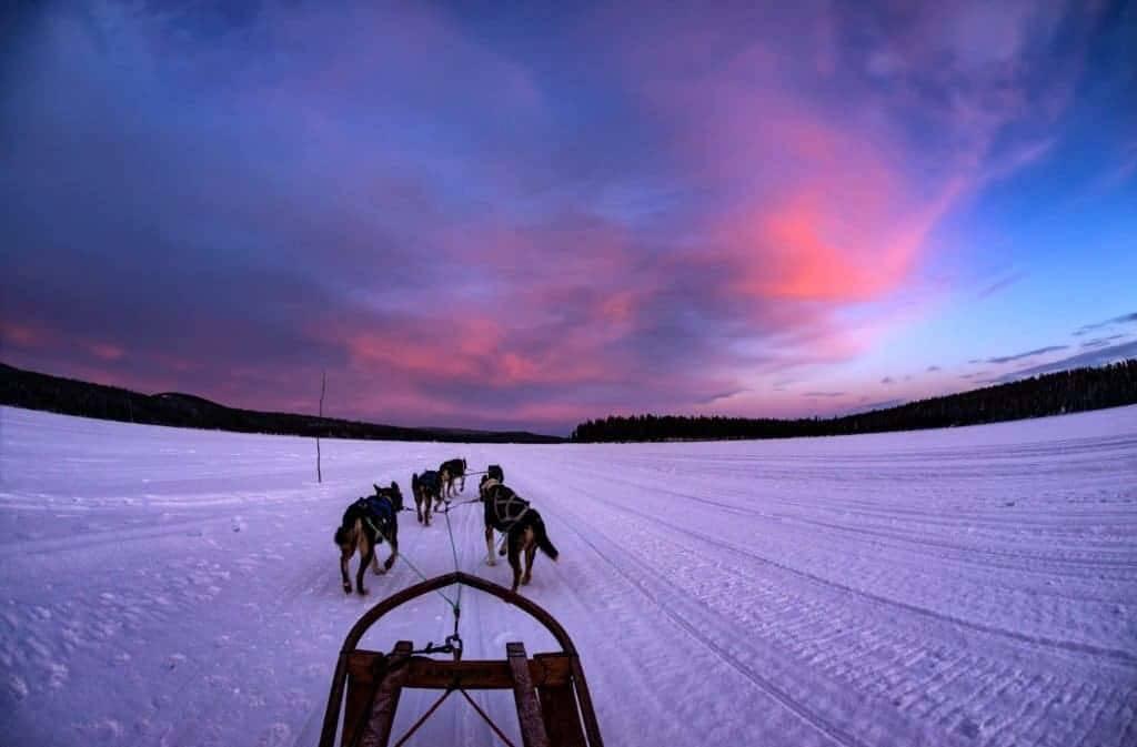 Notte polare in Svezia