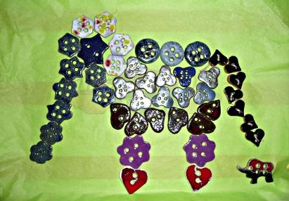 mosaique boutons céramique