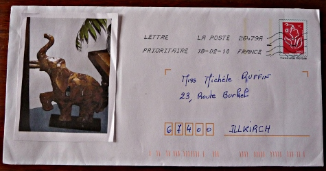 Jeu mail art Violette (enveloppe)