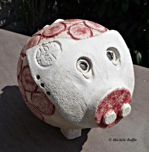 """""""Géomètrie Parallele Cochonne"""" - © Michèle Ruffin"""