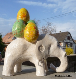 oscar, éléphant de Pâques © Michèle Ruffin