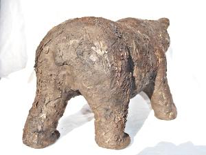 Sculpture céramique ours brun © 2010 - Michèle Ruffin