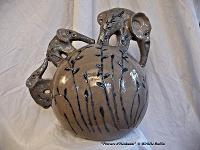 """"""" Pousses d'éléphants Printemps"""" sculpture céramique © 2010 Michèle Ruffin"""
