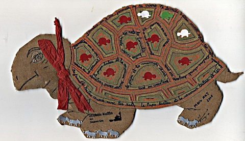 ART POSTAL tortue