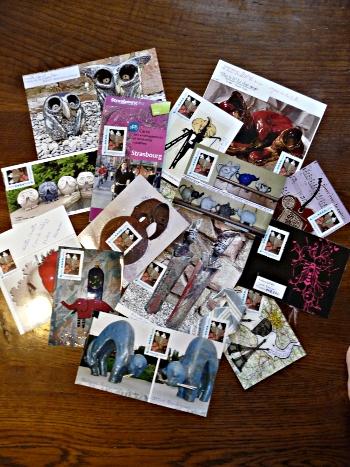 envoi art postal de mes créations novembre 2010