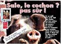 mail art cochon pour PIGGY envoyé novembre 2010