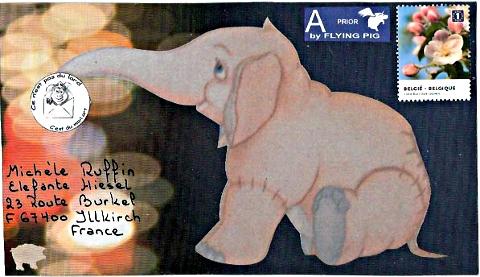 mail art Piggy (décembre 2010)