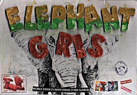 mail art éléphant d'afrique  © décembre 2010 - URSU