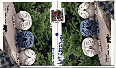 "Art postal theme Domino : ""Zoichoux"""