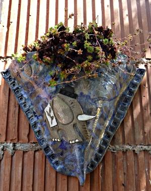 """Cache pot - applique murale thème """"Jean l'éléphant"""""""