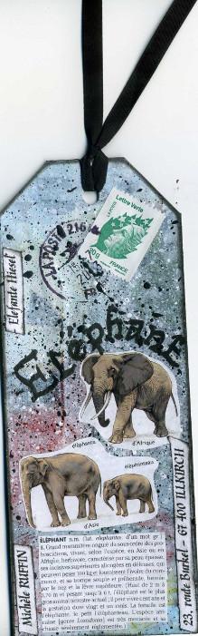 mail art éléphant Fred