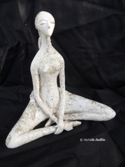 """Louise"" sculpture céramique © Michèle Ruffin"