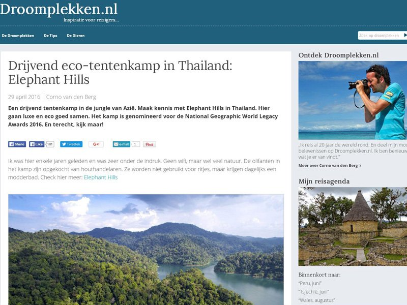 The Netherlands love our sustainable Camps in the Thai