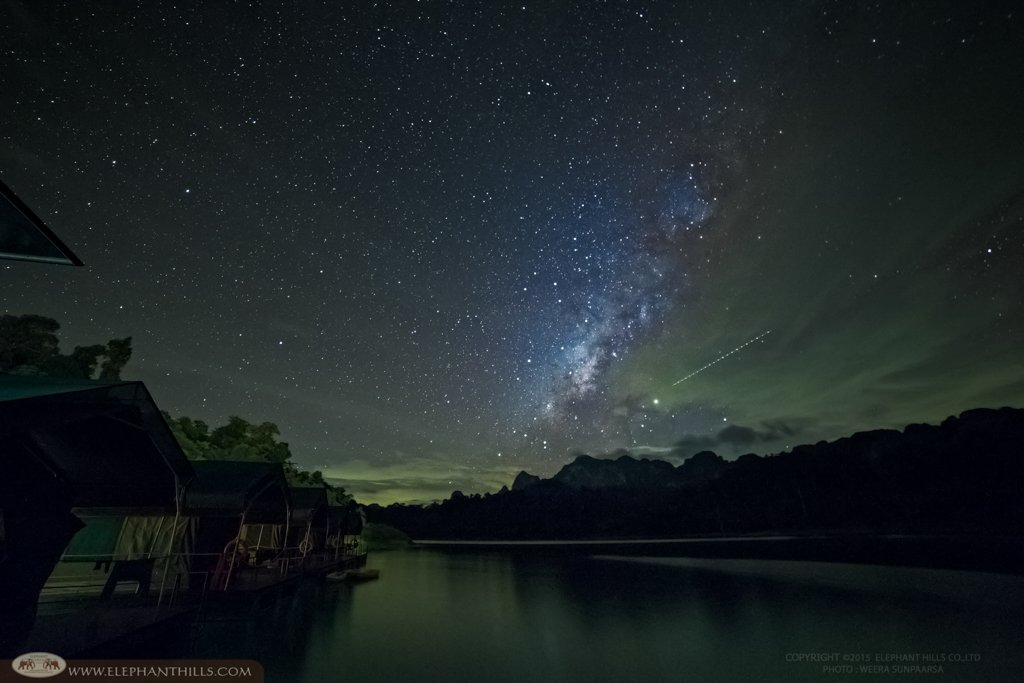 Honeymoon in Thailand with the Milky Way at the Rainforest Camp