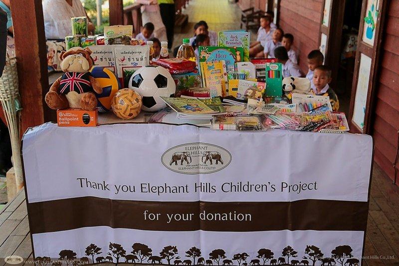 School supplies for hill tribe children - Elephant Hills