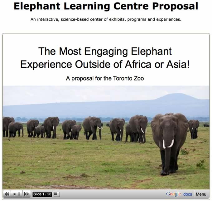 Elephant Learning Centre Proposal - front slideshow