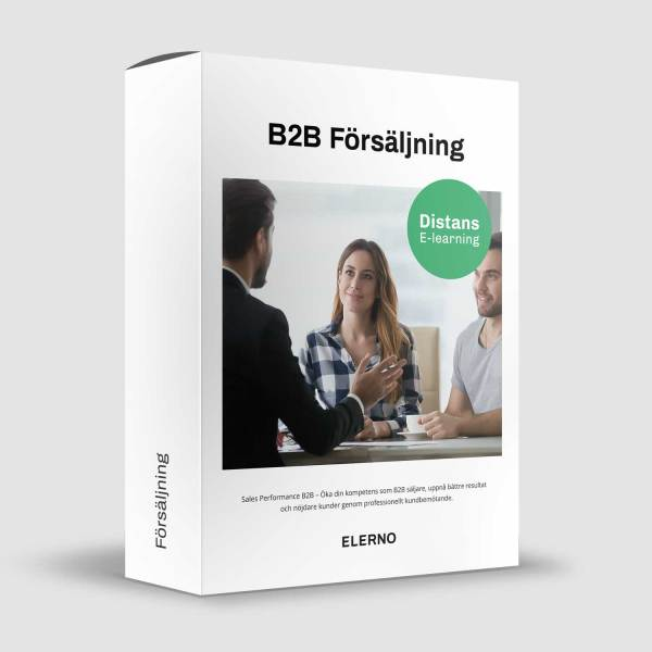 B2B Försäljning - Säljutbildning