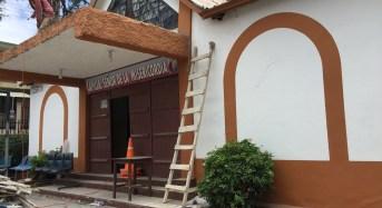 Realizan mantenimiento a la  capilla del Señor de la Misericordia