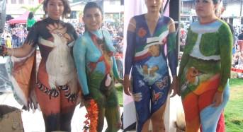 Miguel Angel participó en concurso nacional de cuerpos pintados