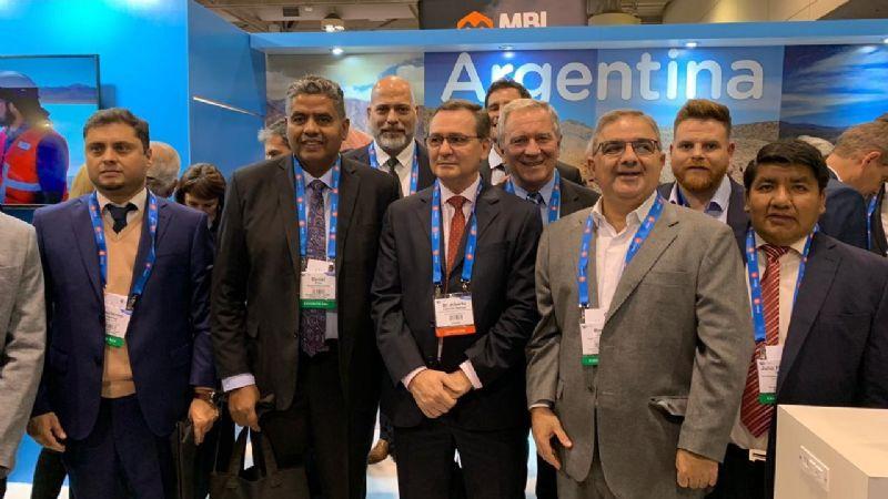 Jalil y comitiva en la apertura de PDAC 2020