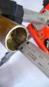 3526 Tagliare tubo forcella acciaio alluminio 22