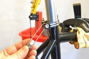 5564 Montiamo la bici serie sterzo trittico leve Surly Cross Check 103