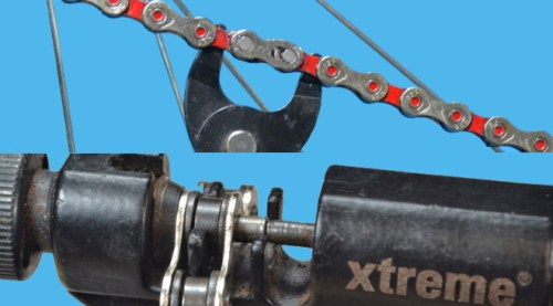 Giuntare catena pin missing link