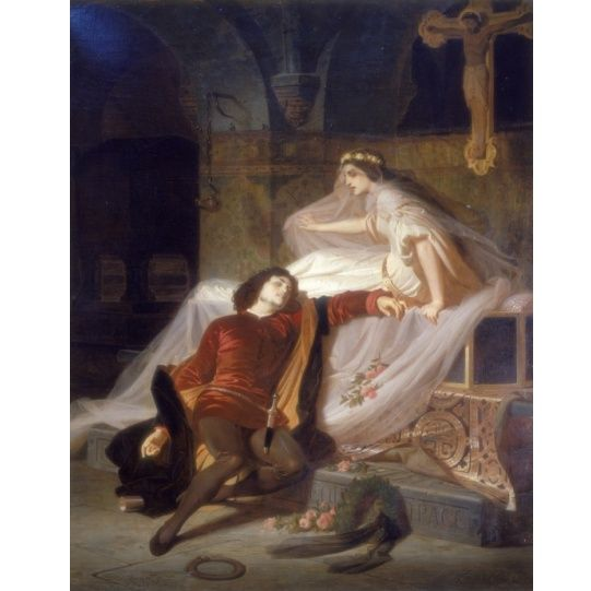 8. Romeo y Julieta, Ferdinand Piloty, 1860s