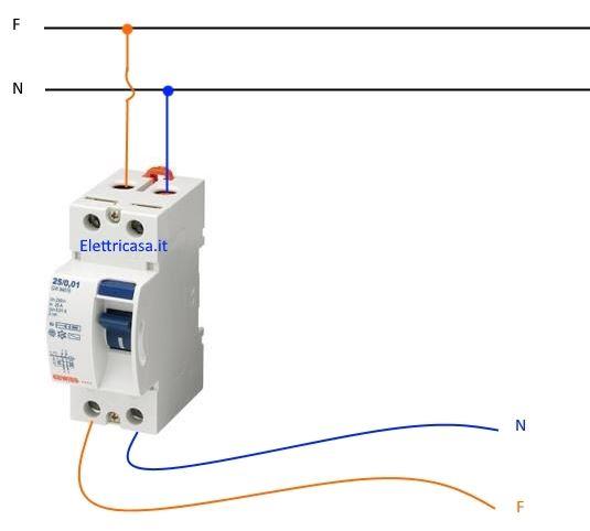 Schema Elettrico Interruttore E Presa : Interruttore differenziale magnetotermico e puro elettricasa
