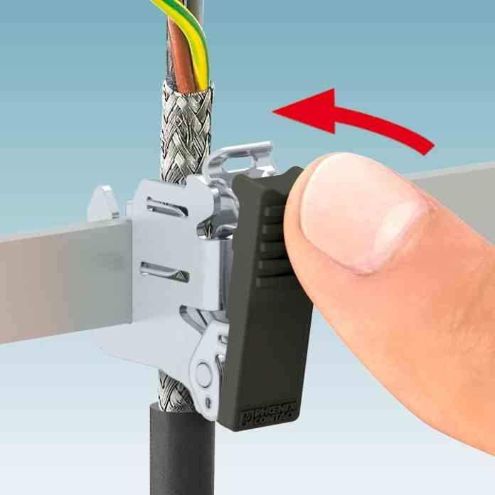 Morsetti per schermatura per il montaggio senza utensili con una sola mano