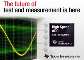 Da TI l'ADC a 12 bit più veloce del settore che soddisfa i requisiti più severi nelle applicazioni di test, misura e difesa