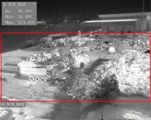 Telecamera gestione rifiuti