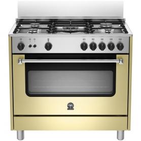 Cucina La Germania Ams95c71ccr 90x60 Crema 5 Fuochi Forno A Gas Ventilato Garanzia Italia Elettrovillage