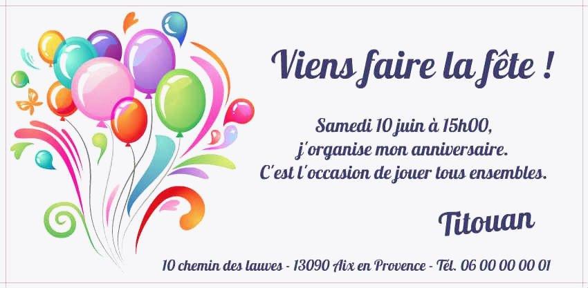 Carte D Invitation Anniversaire Gratuite A Imprimer 18 Ans Elevagequalitetouraine
