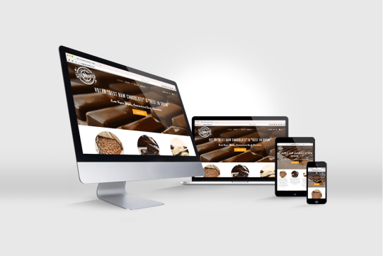 The great unbaked website displayed on multiple devices