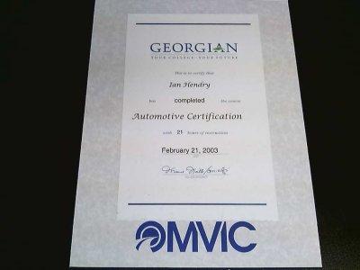 omvic certificate plaque
