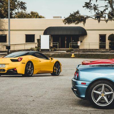 cars in dealership lot