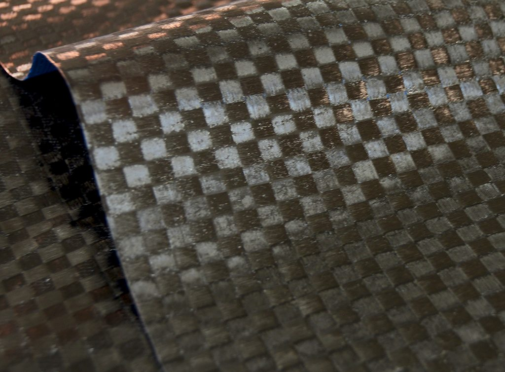 Raw prepreg checker weave carbon fiber